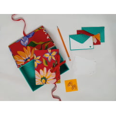 Caixa + Caderno + Envelopes + Clips | KIt Lindinho